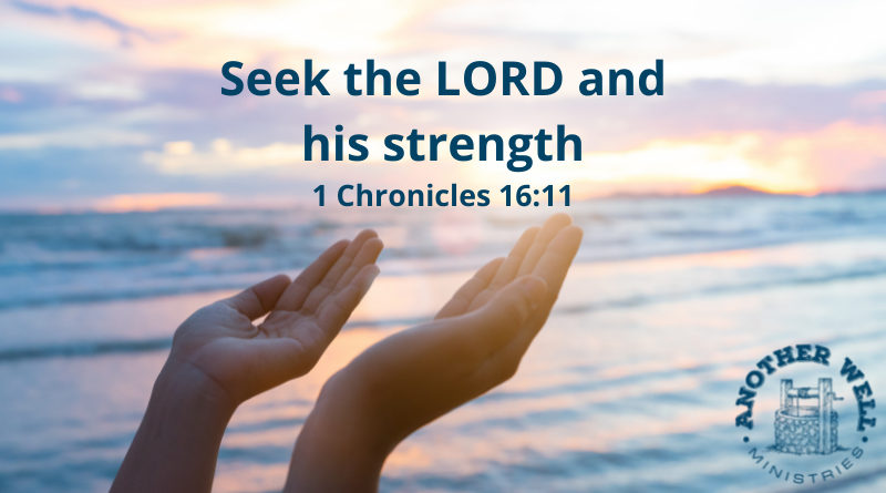 Seek the Lord and his strength
