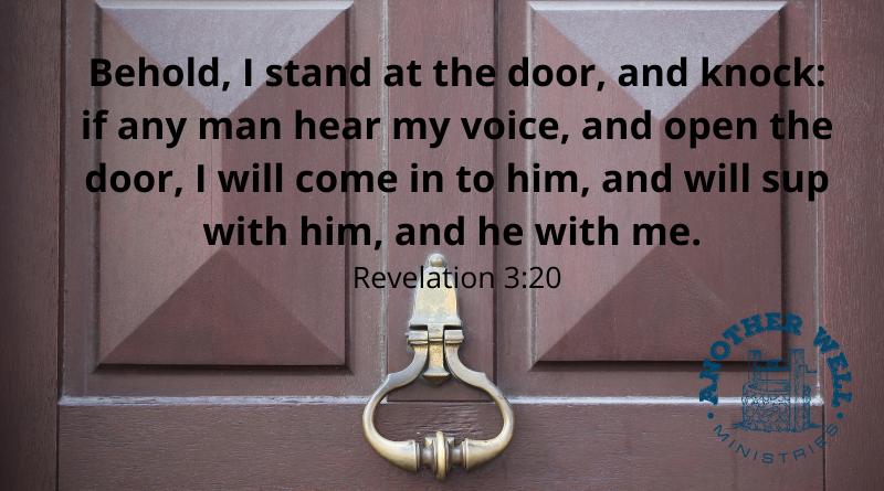 He is knocking on your door